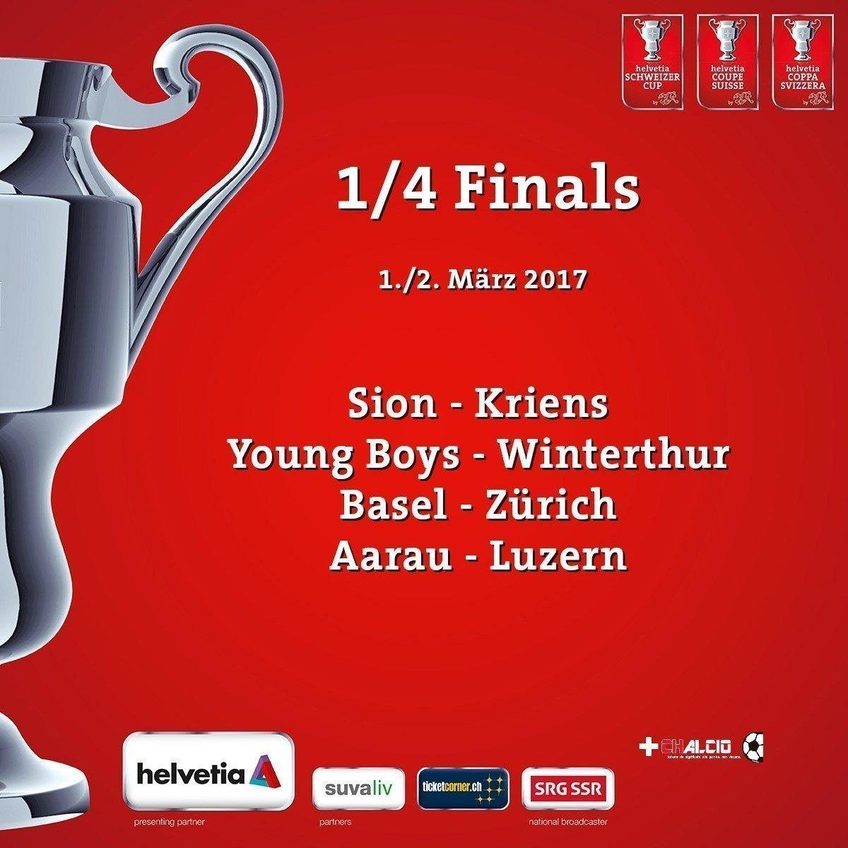 Coppa: Da domani prevendita per Basilea-Zurigo