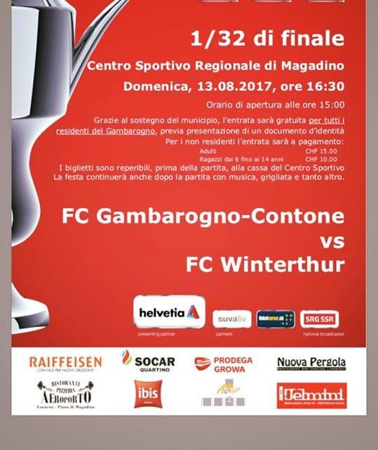 CS: Le prime info per Gambarogno-Winterthur