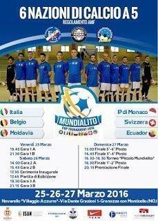 Futsal: Definite le Nazionali partecipanti al Mundialito