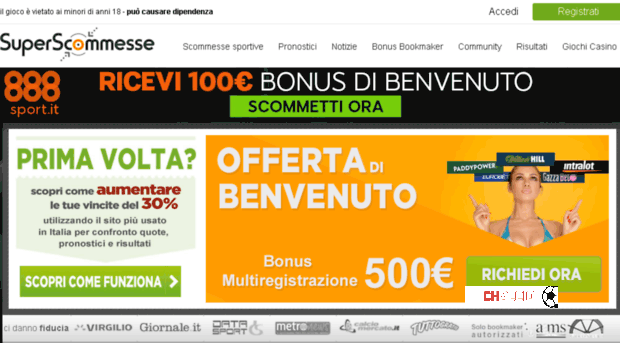 Superscommesse.it interessato a CHalcio.com