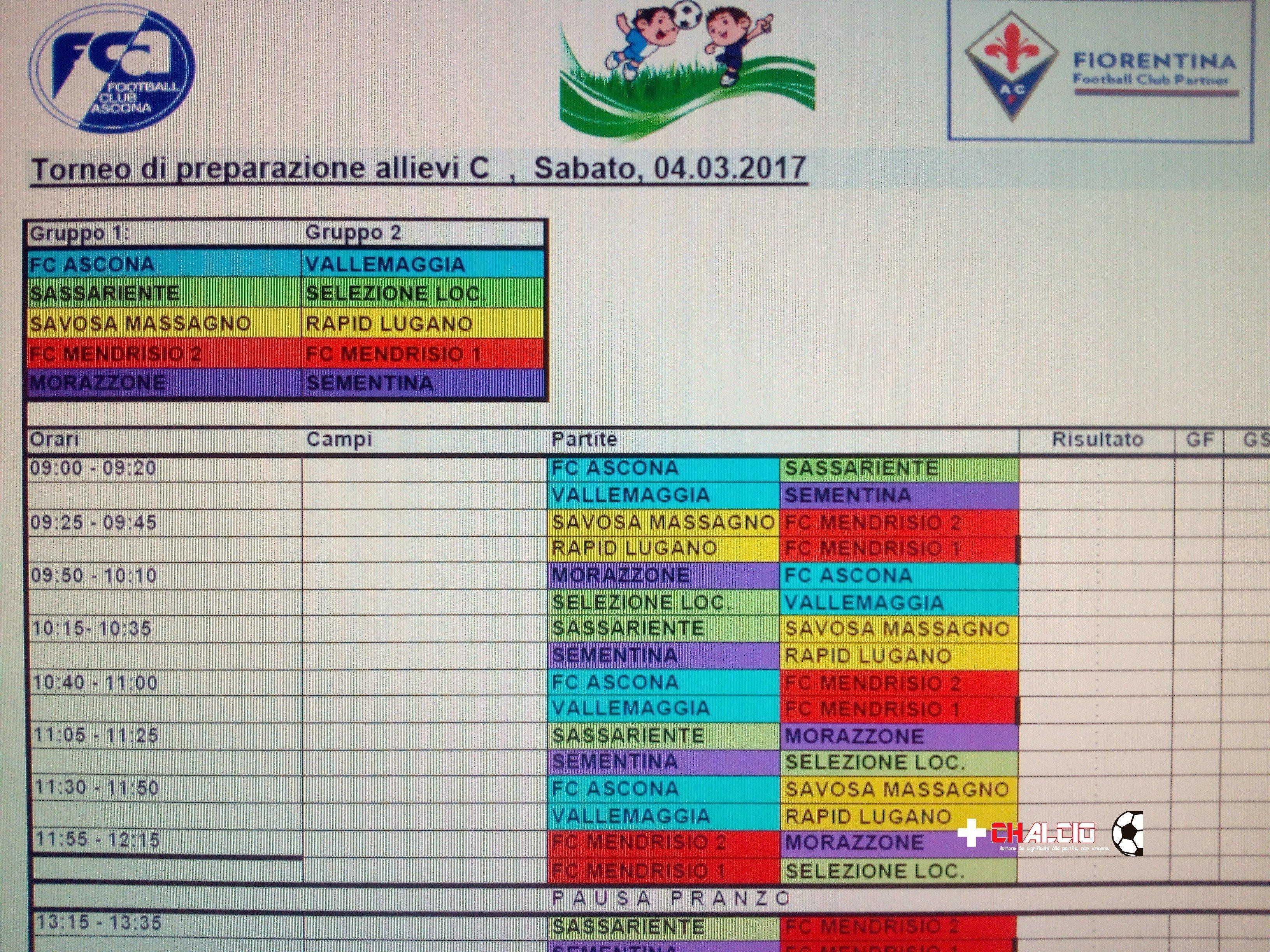 Allievi C: annullato il torneo di Ascona