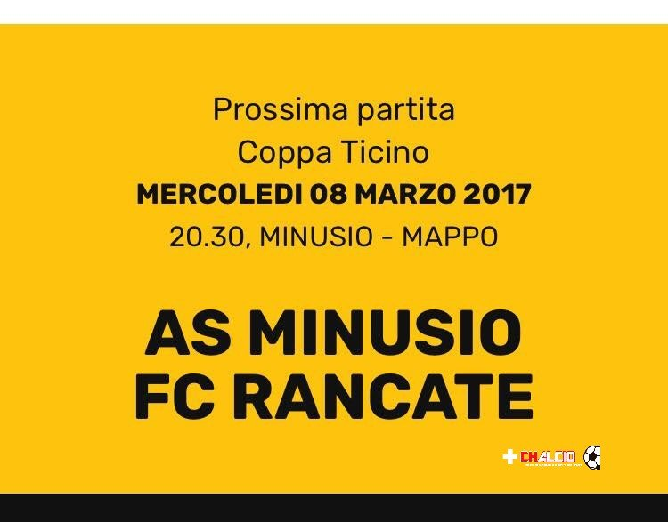 Coppa Ticino: La preview di Minusio-Rancate