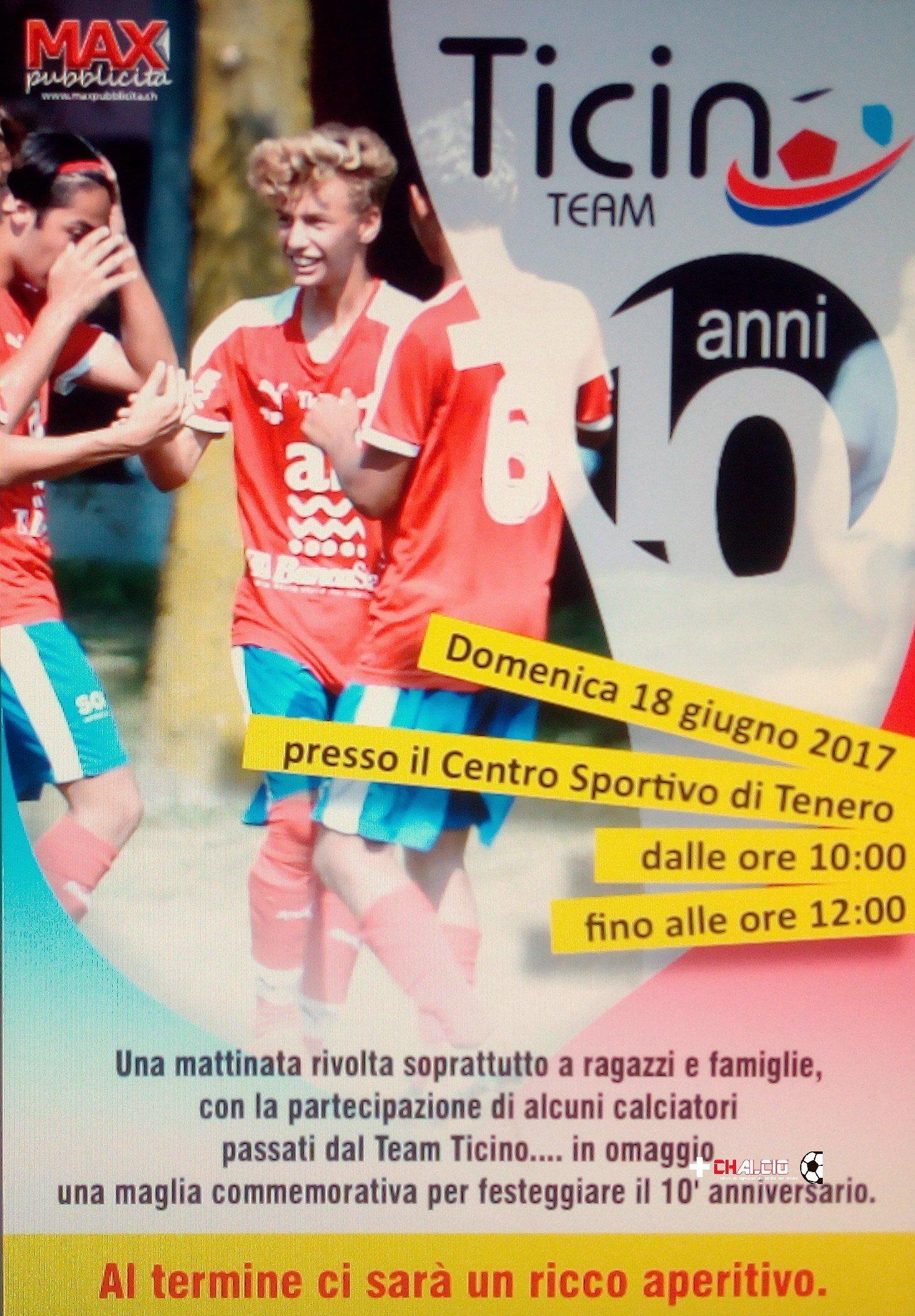 Una festa per i 10 anni del Team Ticino
