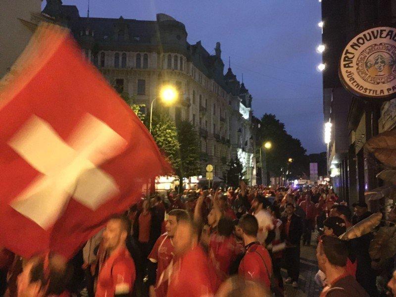 L'euforia dei tifosi svizzeri a Riga (guarda il VIDEO)