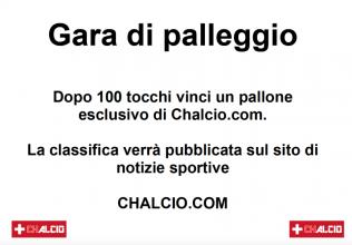Gara di palleggio di Chalcio.com, classifica finale