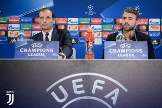 """UCL, Allegri: """"Young Boys insidioso, non vanifichiamo il successo di Valencia""""; Barzagli: """"Obiettivo tre punti"""""""