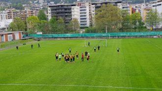 Lugano, primo ritrovo settimanale in vista della trasferta di Berna con un clima più autunnale che primaverile