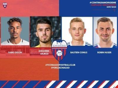 Comunicato ufficiale FC Chiasso, acquistati quattro nuovi giocatori