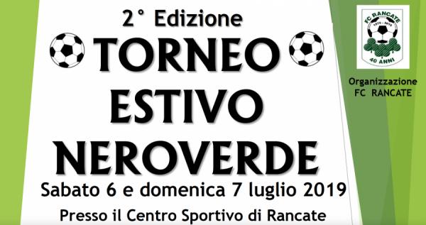 Comunicato FC Rancate: Torneo Estivo Neroverde amatoriale