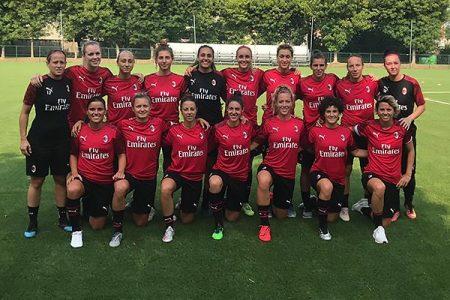 Calcio femminile: domani a Taverne amichevole di lusso Milan-Lugano femminile (ingresso gratuito)