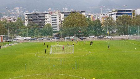 Lugano, mercoledì uggioso sul campo senza i nazionali e gli infortunati