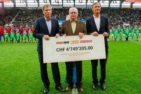 ASF-SFL, come in passato anche quest'anno la società Sport-Toto ha elargito una nuova sovvenzione milionaria