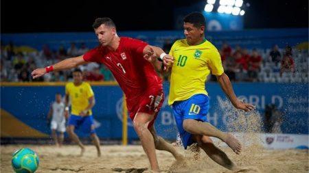 Beach Soccer, niente da fare per la Svizzera con il Brasile: i verdeoro sono troppo forti e accedono alle semifinali
