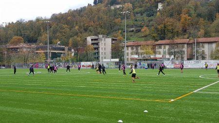 Lugano, la prima della settimana sul sintetico per iniziare ad abituarsi al terreno su cui si giocherà domenica a Thun