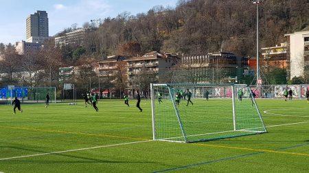 Lugano, sul sintetico per abituarsi già sin d'ora al tipo di terreno che si calcherà sabato sera