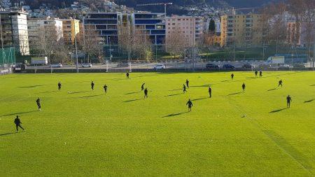 Lugano, un forte vento fastidioso per l'ultima seduta prima della partenza per la gelida Kiev