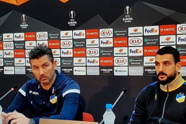 UEL, APOEL Nicosia-Basilea, Marinos Ouzounidis: «La fiducia nel gruppo è totale, il successo sull'Apollon è stato terapeutico»