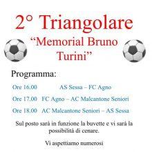 """Tornei: 2°Triangolare """"Memorial Bruno Turini"""""""