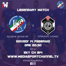 Calcio a 5 AMF: I Veterani del Lugano Calcio in Prima Serata su SKY